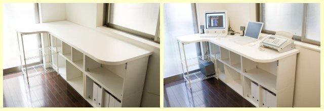 変形テーブル天板・カウンター