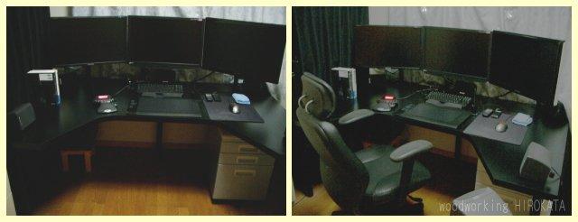 変形パソコンデスク・オーダーメイドのPCテーブル