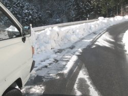 南国四国愛媛県の雪