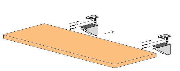 神棚用棚板の壁面設置方法