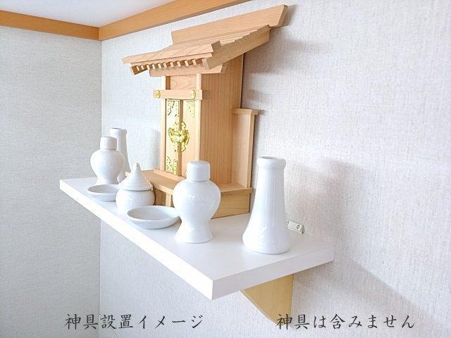 石膏ボード壁に取り付け出来る神棚棚板