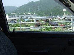 久万高原町 国道33号線から愛媛県立上浮穴高等学校が見えました。