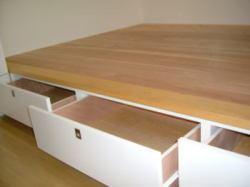 収納家具 造り付け家具 オーダー家具 小上がり収納 引き出し付き