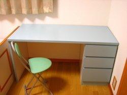 手作り学習机 ブルー 青色