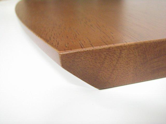 飾り棚用集成材カウンターテーブル面取り形状