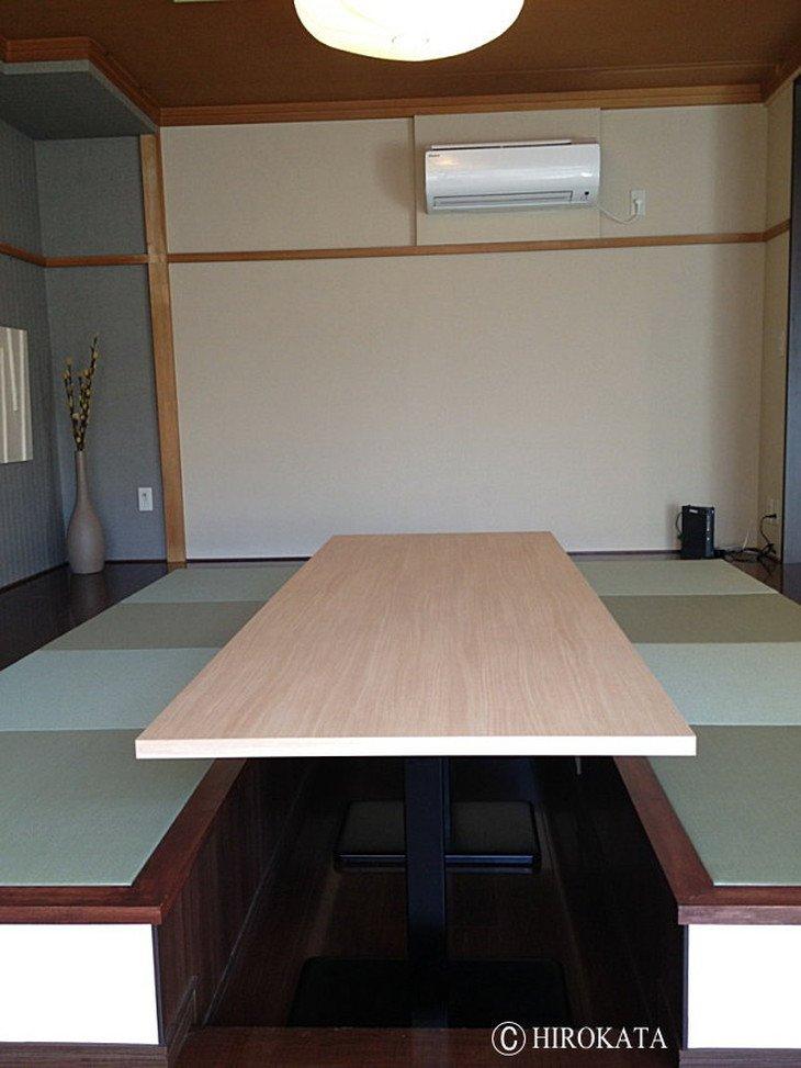 和室のローテーブル(掘りごたつテーブル)