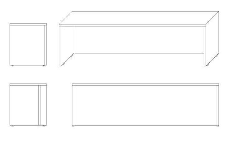 メラミン化粧板カウンター天板ゲート型図面