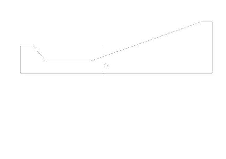 メラミン化粧板テーブル天板折れ曲がり加工図面