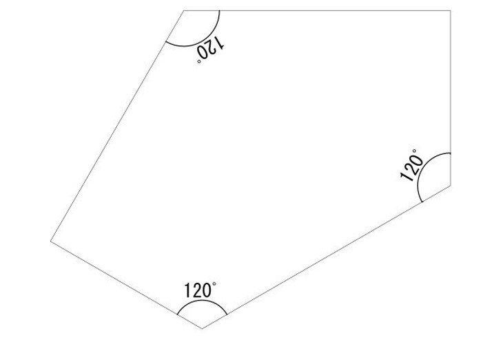メラミン化粧板テーブル天板星形図面