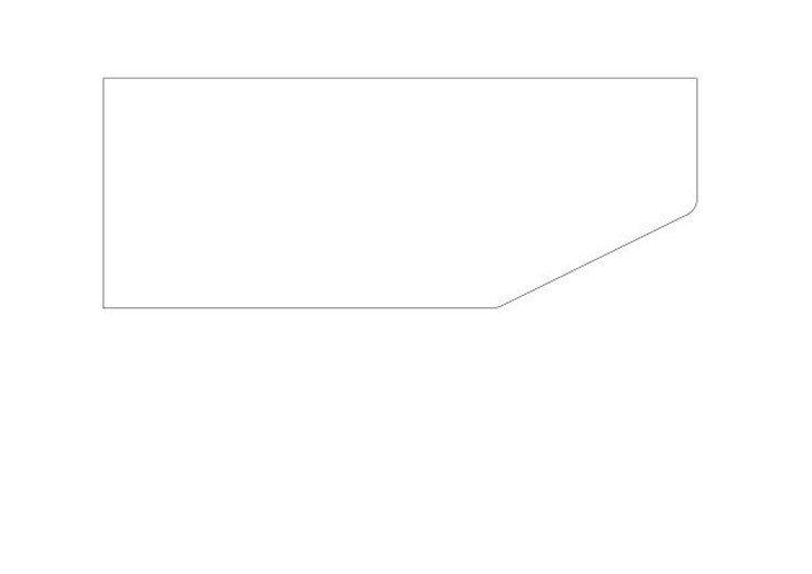 メラミン化粧板テーブル天板角丸加工図面