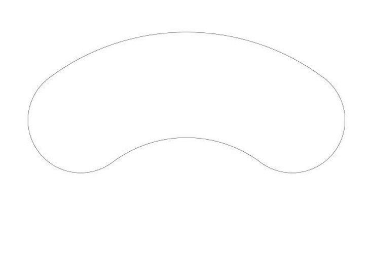 メラミン化粧板テーブル天板変形ビーンズ型