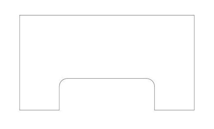 メラミン化粧板テーブル天板パソコンデスク形状