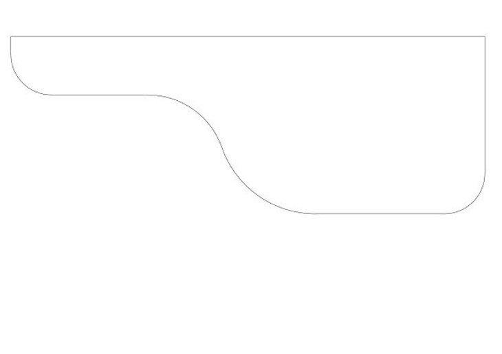 メラミン化粧板テーブル天板図面ウエーブ変形