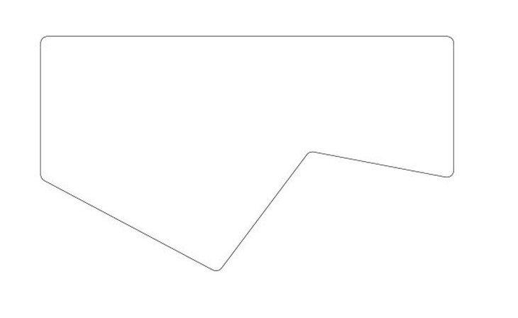 メラミン化粧板テーブル天板変形切り抜き