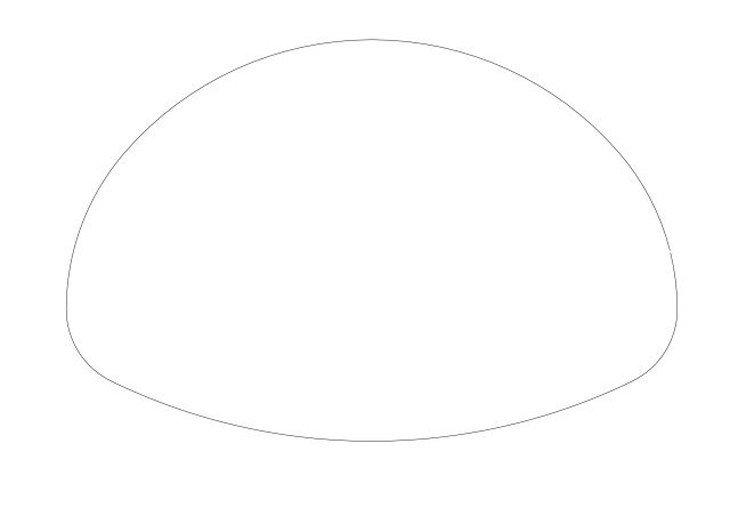 メラミン化粧板テーブル天板楕円形