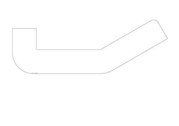 メラミン化粧板テーブル天板図面変形