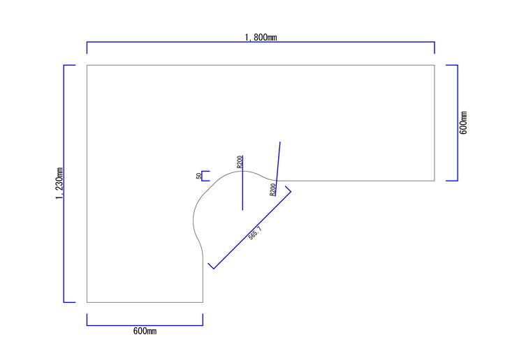 トレーディングPCデスク図面1